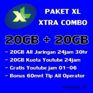 20GB+20GB Youtube(free 01-06)+Telp 60m 30Hari