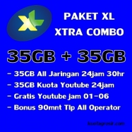 35GB+35GB Youtube(free 01-06)+Telp 90m 30Hari